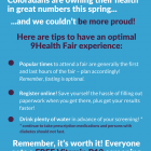 3 Tips for an Amazing 9Health Fair Experience