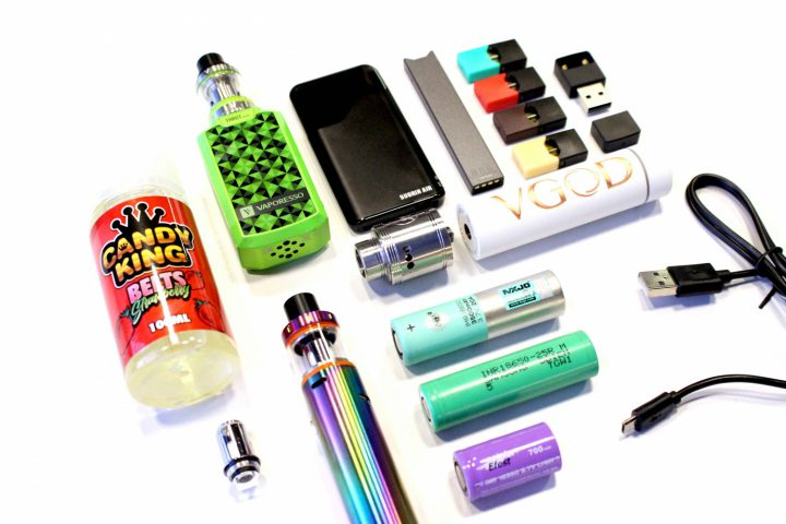 Photo of different vaping devices