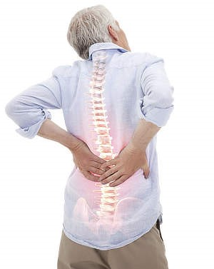 How likely is a serious cause of back pain in older adults?