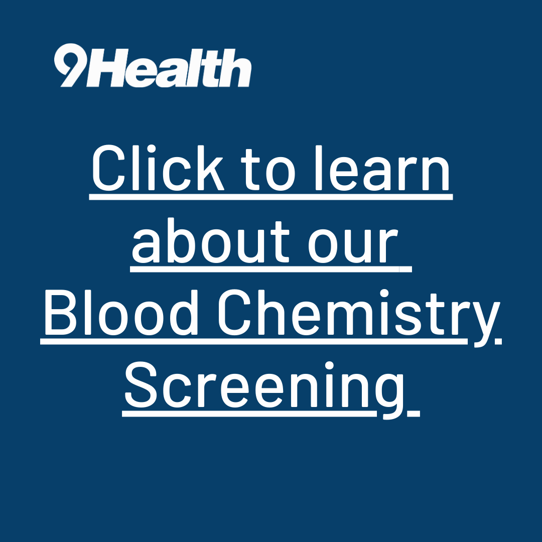 Click to learn about our blood chemistry screening